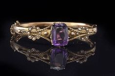 Antique Early Victorian 7.5 ct Amethyst Seed Pearl by EtsyClassic, $565.00