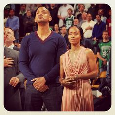 Will and Jada Pinkett-Smith are courtside for game 5. #boston #celtics #bostonceltics #iamtheplayoffs #iamaceltic #celticsplayoffs #nba #playoffs