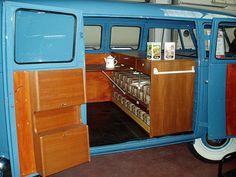 Blue bus camping box