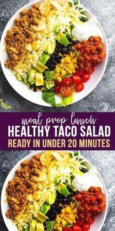 Taco Salad Recipes, Diet Recipes, Healthy Recipes, Chili Recipes, Recipes Dinner, Healthy Foods, Easy Recipes, Vegetarian Recipes, Dessert Recipes