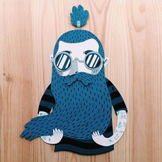 Illustrator Juan Carlos, from Valencia, works with simple illustration and clever layering to bring his imaginative paper figures to life. His work is full of interesting characters with endearing human. Paper Illustration, Simple Illustration, Character Illustration, Illustration Styles, Paper Art Design, Posca Art, Arte Sketchbook, Paper Artwork, Origami Art