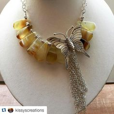 #Repost @kissyscreations  Inspired by the many butterflies in my backyard  right now.  #yellowopal#hilltribesilver#thousandoaksartfestival2015