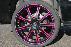 MOZ Luxury Wheels: Custom Wheels for Caddy Escalade Nissan Titan, Motorcycle Wheels, Car Wheels, San Francisco Bay, Nintendo Ds, Pink Car Accessories, Pink Rims, Black Rims, Mustang Wheels