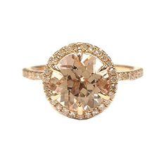 $499 Round Morganite Engagement Ring Pave Diamond Wedding 14K Rose Gold 6mm,6 Prongs LOGR-Morganite Rings http://www.amazon.com/dp/B011TZ58HE/