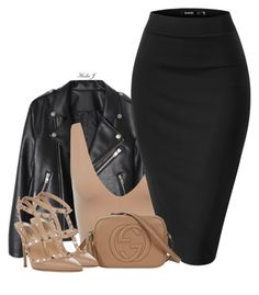 """8"" by justice-ellis ❤ liked on Polyvore featuring Gucci, Valentino and hedaj"