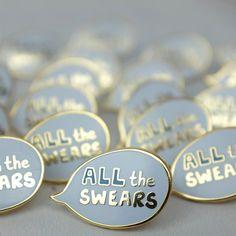 All the Swears enamel pin