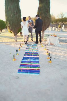 Day of the Dead Wedding @Cassandra Dowman Dowman Cravens I love the rug!!