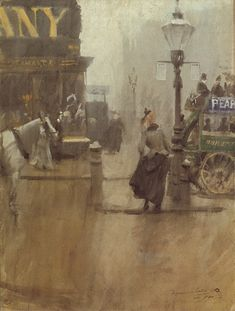 Impressions of London, 1890 by Anders Zorn (Swedish 1860-1920)
