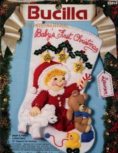 Babys First Christmas 12 Bucilla Felt Christmas Stocking Kit