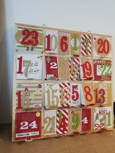Calendrier de l'Avent. - Désir 2 scrap Home And Deco, Advent Calendar, Scrapbooking, Holiday Decor, Home Decor, Noel, Homemade Home Decor, Scrapbooks, Decoration Home