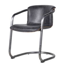 Toledo Slate Leather Seat Chair