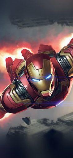 Iphonex Wallpaper Az70 Ironman Hero Marvel Il Ration Art Blue