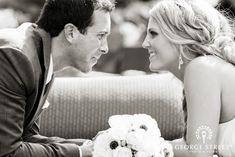 The perfect candid moment captured in stunning black and white! <3