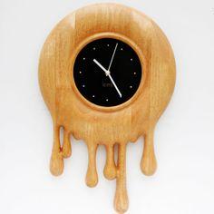 Handmade Wood Clocks   DM-3 Hand Carved Handmade Classic Wooden Clock with Wooden Clock Hands