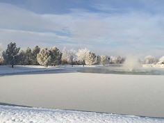 Snowy lake, Windsor CO, Water Valley 11/2014, Tara Neal