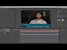"""Want to learn how to make lower third graphics for your videos? In this episode of """"Bammo Basics,"""" Ryan shows you the best way to use After Effects to make y. Father And Girl, Vfx Tutorial, Lower Thirds, After Effects Projects, Motion Design, Design Tutorials, Youtube, Youtubers, Youtube Movies"""