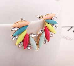2016 new fashion color Gothic Bohemian lady cool jewelry Brinko angel wing crystal alloy earring gift #Affiliate