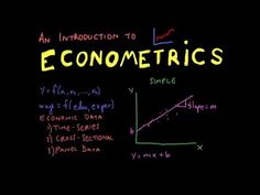 This is an introduction to econometrics tutorial. This video is a basic overview and touches on each of these subjects: 1. What is Econometrics? 2. Goals of ...