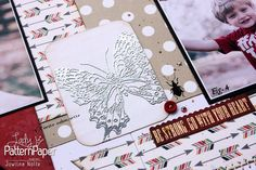 As a scrapbooker I am aware of all the beautiful elements in store, but in this turorial you'll learn to create your own embossed accents. Scrapbook Albums, Scrapbook Layouts, Scrapbook Paper, Pattern Paper, Scrapbooks, Create Your Own, Arts And Crafts, Activities, Learning