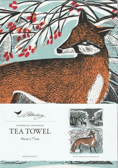 Stopping By The Woods Tea Towel - Illustrated Living