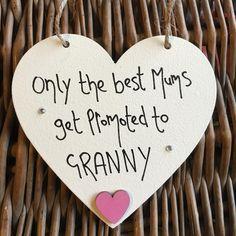 Only the Best Mums GRANNY Cream Heart - Little Miss Scrabbled