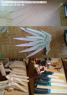 Mercy Overwatch Cosplay Progress Wings Parts by mariilicious