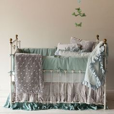 9 Splendid Tips AND Tricks: Shabby Chic Ideas Thrift Stores shabby chic ideas thrift stores.Shabby Chic Living Room With Tv shabby chic bedroom bedding. Shabby Chic Nursery Bedding, Baby Girl Bedding, Shabby Chic Living Room, Crib Bedding, Shabby Chic Furniture, Shabby Chic Decor, Boho Nursery, Blue Bedding, Funky Furniture