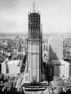 New York City 1930 - construction of the Empire State Building #empirestatebuilding #NewYork #nyc