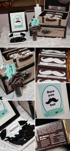 Mustache Birthday Party.. I would so turn it into a grown mans family oriented party.