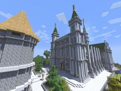 /r/minecraftrenders: Let me humbly show you a religious building on our small survival server.