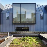 Edgley Design Completes London Terrace With Angular Zinc Clad Frontage In 2020 London Architecture Zinc Cladding Design