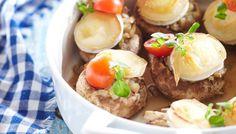 Vuohenjuustolla täytetyt herkkusienet - K-ruoka