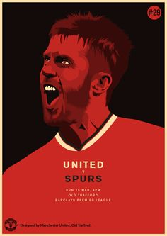 Match poster. Manchester United vs Tottenham Hotspur. 15 March 2015. Designed by @manutd.