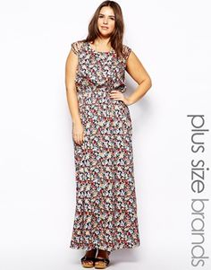 Image 1 of New Look Inspire Multi Strap Shoulder Maxi Dress