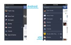 Side Navigation UI Pattern in Android Android Ui, Ui Patterns, Interesting Topics, Ui Inspiration, Mobile Design, Ios, Facebook