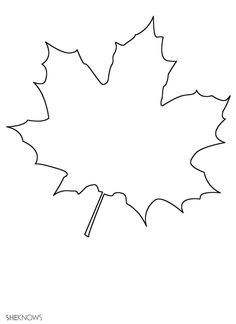 Craft templates for kids: Maple leaf
