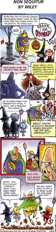 ❤ =^..^= ❤  Non Sequitur Comic Strip, October 29, 2000 | True then, true now.