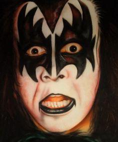 Kiss World, Kiss Art, Star Children, Makeup Art, Halloween Face Makeup, Rock, Comics, Artwork, Work Of Art