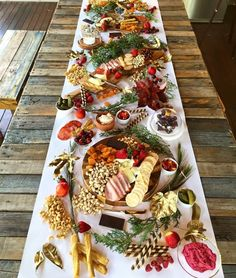 View from above this Christmas inspired platter 🍒✨🎅🏽 looking forward to this silly season and the great food to come! Cheese Table, Cheese Platters, Food Platters, Party Finger Foods, Snacks Für Party, Raw Food Recipes, Great Recipes, Charcuterie And Cheese Board, Grazing Tables