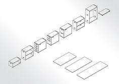 Zwei Boxen und eine Platte bilden den Ausgangspunkt: einen Schreibtisch. Die Aufgaben wachsen? Der Schreibtisch wächst mit. Und so entfaltet pila nach und nach seine volle Schönheit.
