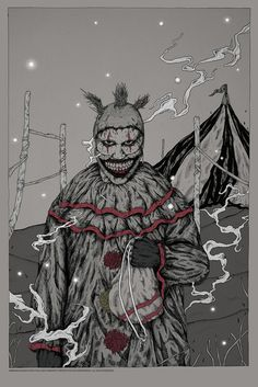 "American Horror Story - Freak Show - Manu Jayasanka (aka Ambady) - ''I'm A Good Clown'' ---- ""American Horror Story"" art show at Hero Complex Gallery (2015-10) #AHS"