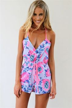 playsuits pink peony playsuit 1