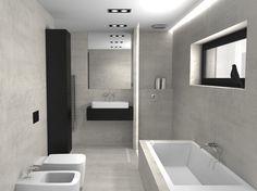 Návrh koupelny | navrh interiéru | vizualizace | inspirace Home Lighting, Bathrooms, Bathtub, House, Ideas, Home Decor, Standing Bath, Bath Tub, Haus
