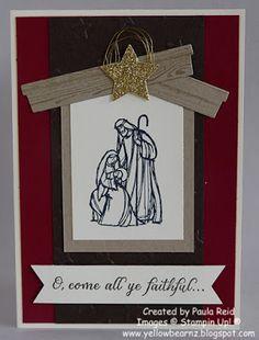 All Ye Faithful - Stampin Up http://yellowbearnz.blogspot.co.nz/2015/09/all-ye-faithful-manger-style.html