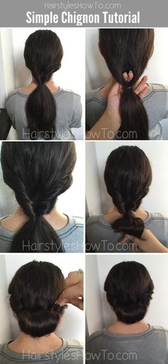 How to do a classic #chignon #bun #tutorial that looks feminine & chic. Perfect for a romantic wedding or holiday parties!
