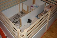 20 Comfy and Classy Whelping Box Ideas - Page 2 of 2 - Tail and Fur Dog Whelping Box, Whelping Puppies, Pug Puppies, Pet Dogs, Pets, Casas Trailer, Puppy Room, Dog Rooms, Dog Care