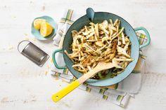 Roerbak van koolrabi met venkel, citroen en karwijzaad - Recept - Allerhande