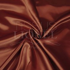 SATIN UNI BRIQUE, LARGEUR 150 CM, 100% POLYESTER