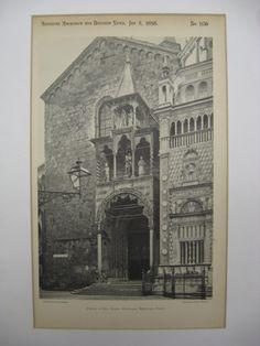 Porch of Sta. Maria Maggiore, Bergamo, Italy, EUR, 1898