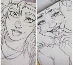 Piper and Hazel sketches.  I'm in love with these